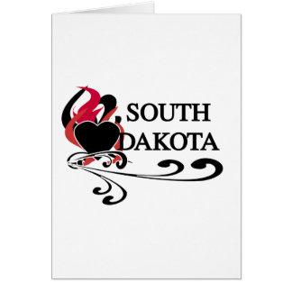 Feuer-Herz South Dakota Karte