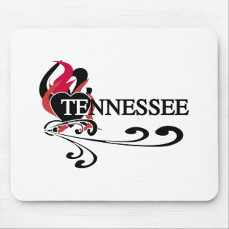 Feuer-Herz Tennessee Mousepad