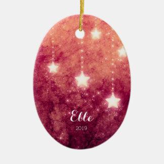 Feuer-Himmel-Weihnachtsmond spielt des Bild-Babys Keramik Ornament