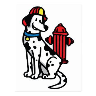 Feuer-Hund Postkarte