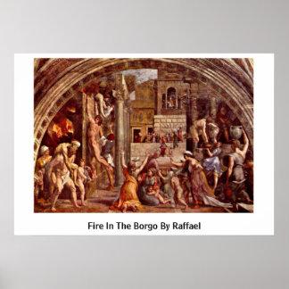 Feuer im Borgo durch Raffael Plakatdrucke