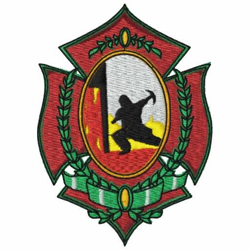 Feuer-Kämpfer-gesticktes Shirt Besticktes Polohemd