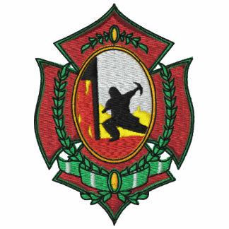 Feuer-Kämpfer-gesticktes Shirt Polohemd