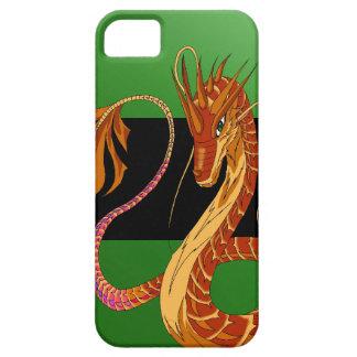 Feuer-korallenrote Drache-Grün iPhone 5/5s iPhone 5 Etui