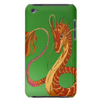 Feuer-korallenrote Drache-Grünipod-Touch-Abdeckung iPod Touch Cover