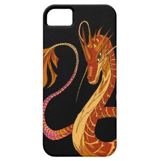Feuer-korallenrote Drache-Schwarzes iPhone 5/5s iPhone 5 Hülle