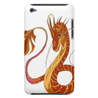 Feuer-korallenrote Dracheipod-Touch-Abdeckung Barely There iPod Case