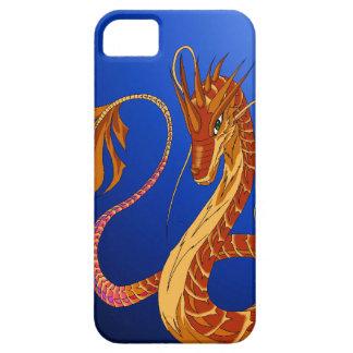 Feuer-korallenroter Drache blaue iPhone 5/5s iPhone 5 Schutzhüllen