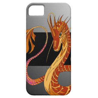Feuer-korallenroter Drache graue iPhone 5/5s iPhone 5 Case