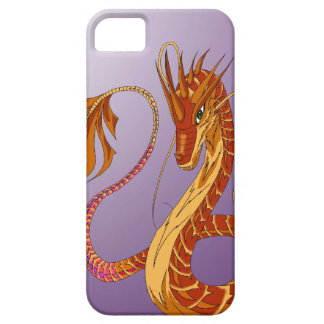 Feuer-korallenroter Drache lila iPhone 5/5s iPhone 5 Cover