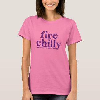 """Feuer-kühles """"Kreide-Gesprächs-"""" T-Stück T-Shirt"""