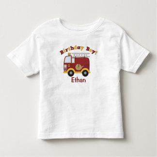 Feuer-LKW-Geburtstag scherzt personalisiertes Kleinkind T-shirt