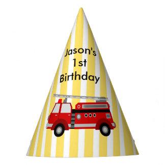 Feuer-LKW-Geburtstags-Party personalisiert Partyhütchen