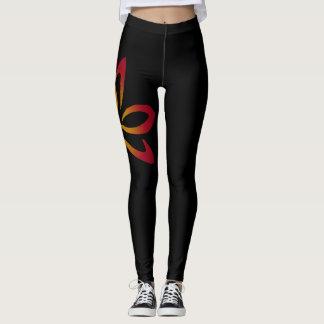 Feuer-Lotos-Fitness-Gamaschen Leggings