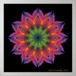 Feuer-Lotus-Mandala Plakate