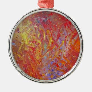 Feuer-Malerei, zum herauf alles zu erhellen! Silbernes Ornament