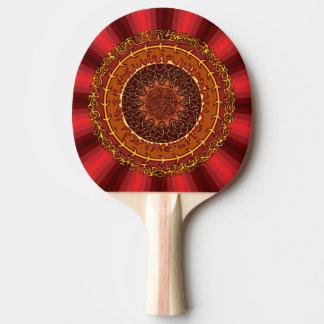 Feuer-Mandala-Klingeln Pong Paddel Tischtennis Schläger