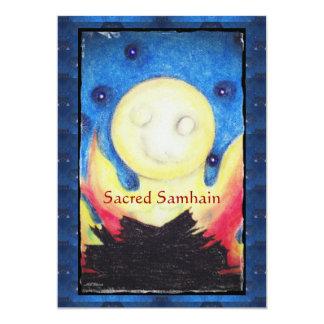 Feuer-Mond Samhain Gedicht-Single-Seite. Gruß 12,7 X 17,8 Cm Einladungskarte