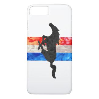 Feuer-Mustang-rotes weißes u. blau iPhone 8 Plus/7 Plus Hülle