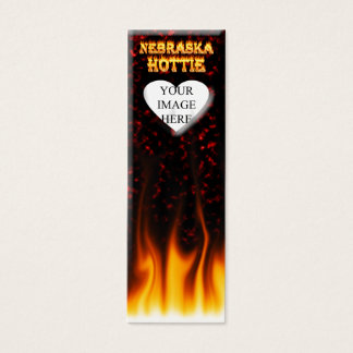 Feuer Nebraska Hottie und rotes Marmorherz Mini Visitenkarte