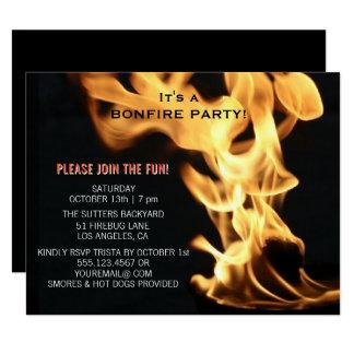 Feuer-Party-Lagerfeuer-Flammen kampieren heraus Karte