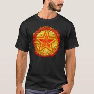 Feuer-Pentagramm T-Shirt