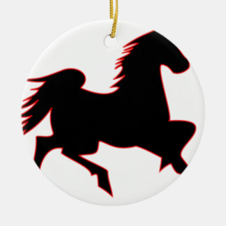 Feuer-Pferd Keramik Ornament