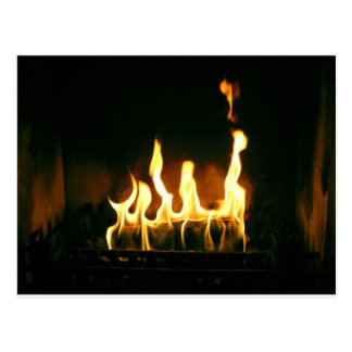Feuer Postkarte