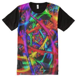 Feuer-psychedelisches abstraktes feines Fraktal T-Shirt Mit Komplett Bedruckbarer Vorderseite