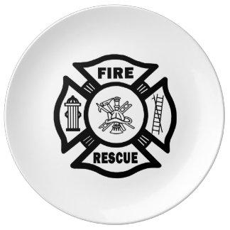 Feuer-Rettung Teller