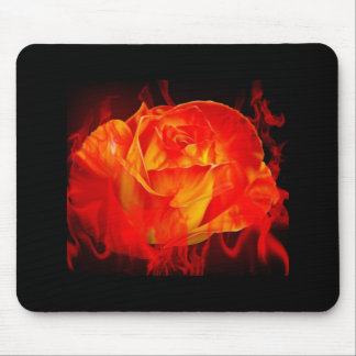 Feuer-Rose Mousepad
