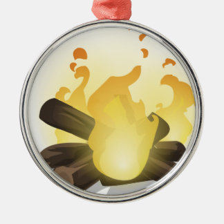 Feuer Silbernes Ornament