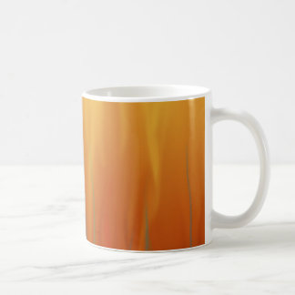 Feuer - simulierte Flammen-abstrakte Kunst Kaffeetasse