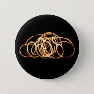Feuer-Stab - Knöpfe Runder Button 5,7 Cm