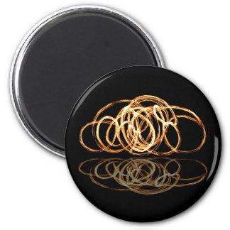 Feuer-Stab reflektiert - Magneten Runder Magnet 5,7 Cm