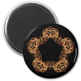 Feuer-Stabs-Stern - Magneten Runder Magnet 5,7 Cm
