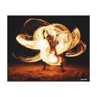 Feuer-Tänzer Leinwanddruck