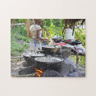 Feuer-Topf-Jamaika-Strand Puzzle