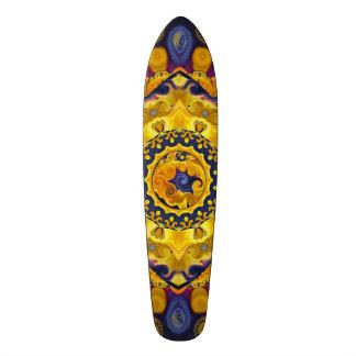 Feuer-und Eis-Blau-Mandala-Skateboard-Plattform 18,1 Cm Old School Skateboard Deck