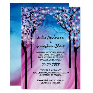 Feuer-und Eis-Hochzeits-Einladungs-Schablone Karte