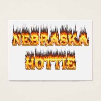 Feuer und Flammen Nebraska Hottie Visitenkarte