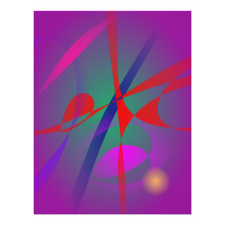 Feuer-und Stille-abstrakter Ausdruck Vollfarbige Flyer