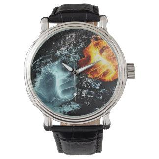 Feuer und Wasser Armbanduhr