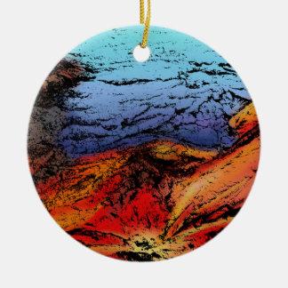 Feuer und Wasser Keramik Ornament
