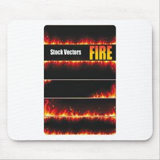Feuer-Vektor Mauspad