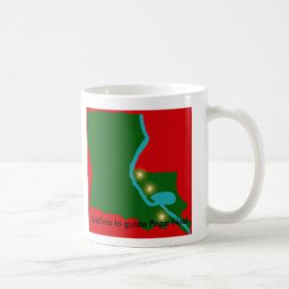 Feuer, zum des Papa-Weihnachtens zu führen -- Kaffeetasse