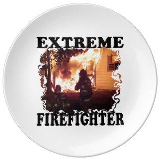 Feuerbekämpfendes Extrem Porzellanteller