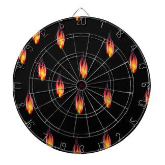 Feuerflammen Dartscheibe