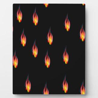 Feuerflammen Fotoplatte