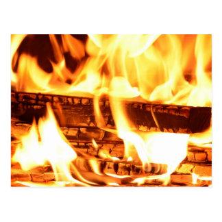 Feuerflammenentwurf Postkarte
